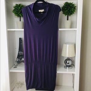 Michael Kors, Purple Sleeveless Midi Dress